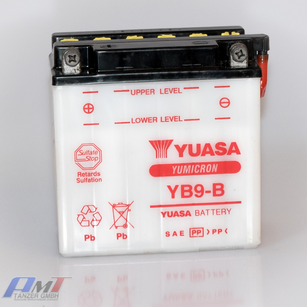 yuasa yb9 b motorradbatterie batterie yb9b aprilia honda. Black Bedroom Furniture Sets. Home Design Ideas